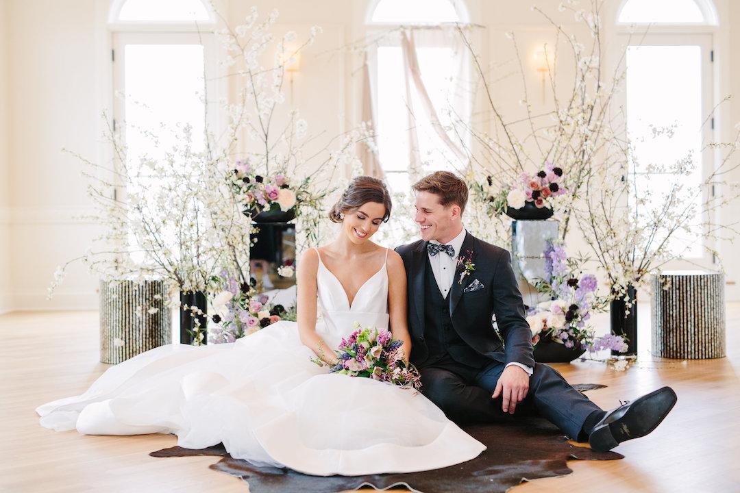 Bride and groom cut a rug